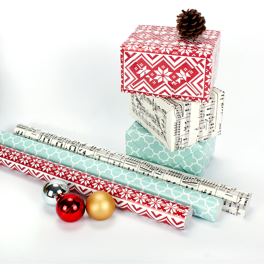 10pcs 50x70cm Christmas Decoration Kraft Paper Gift Packing Diy