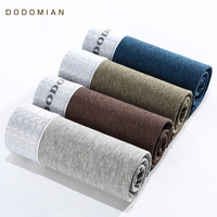 DO DO MIAN Underwear Men Luxury Waistband High Quality Cotton Brief Boxer Breathable 4pcs Lot Boxer