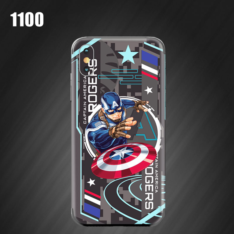 Venom stickers For iphone XS MAX Back film Captain America relief Ultrathin Color film For iphone 6 7 8 PLUS X XR Paster Cover in Half wrapped Cases from Cellphones Telecommunications