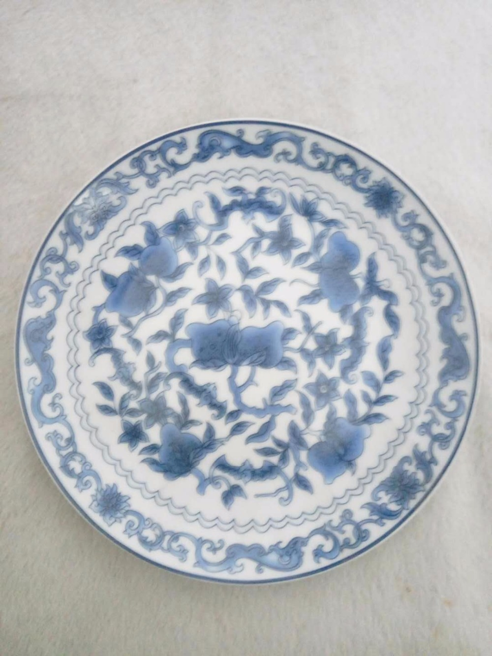 US $22 39 20% OFF TNUKK Exquisite Chinese handmade blue and white porcelain  plate, flower pattern, meaning rich and auspicious  -in Figurines &