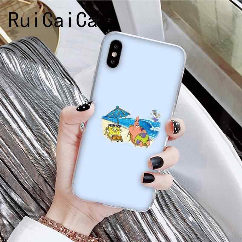 RuiCaiCa SpongeBob SquarePants sünger Bob müşteri yüksek telefon kılıfı için iPhone 8 7 6 6S artı X XSMAX 5 5S SE XR 11 11pro 11promax