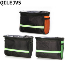 QILEJVS Bike Cycling Bicycle Handlebar Bag Front Basket Frame Tube Pouch Pannier Outdoor bisiklet aksesuar roswheel hot new 3l bicycle bag water proof mtb bike handlebar front basket pvc pannier pouch cycling holdings accessories