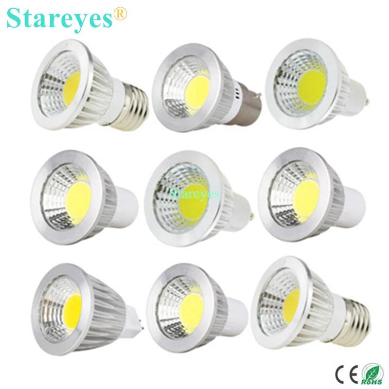 1 Piece Dimmable 3W 5W GU10 E27 B22 E14 GU5.3 MR16 LED COB Spotlight Led Downlight Bulb Droplight Light Lamp Light Lighting