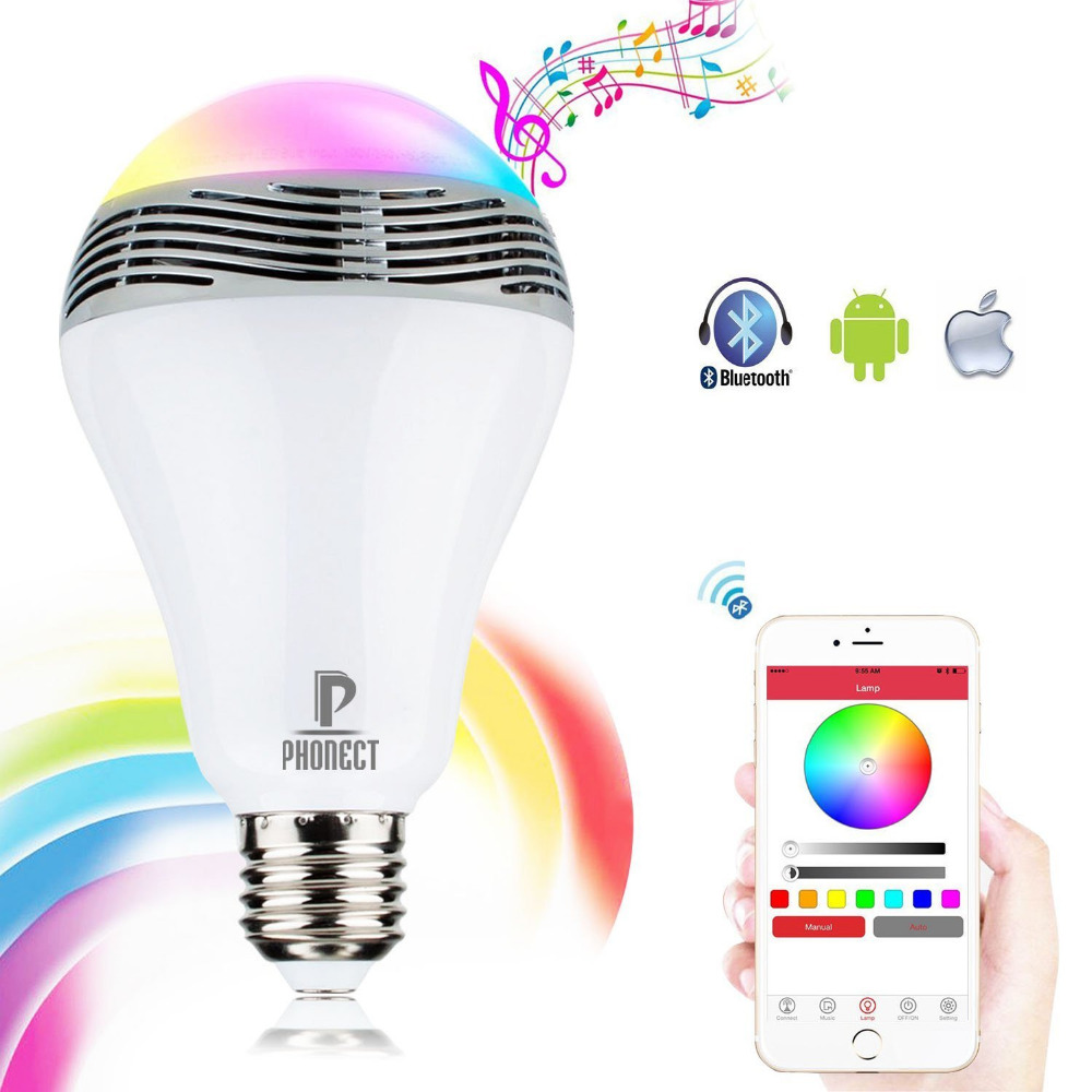 E27 5W led bulb AC220V bluetooth 5730 led lamp wireless music bulb speaker disco noverty led lighting music player bulbs