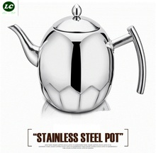 kettle 1 litre Stainless steel coffee pot induction cooker kettle with filter thickening teapot tea juice pot the teapot(China)