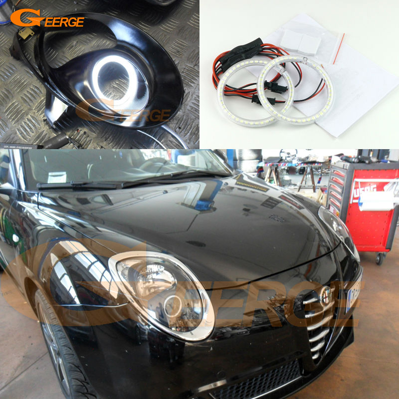 For Alfa Romeo Mito 2008 2009 2010 2012 2013 2014 2015 Excellent Ultra bright illumination smd led Angel Eyes Halo Ring kit
