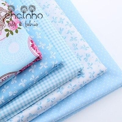 Хлопчатобумажная ткань для пэчворка одеяла скрапбукинга продукты жир Quaters Тильда Ткань швейные ткани 5 шт. синий конструкции 40*50 см