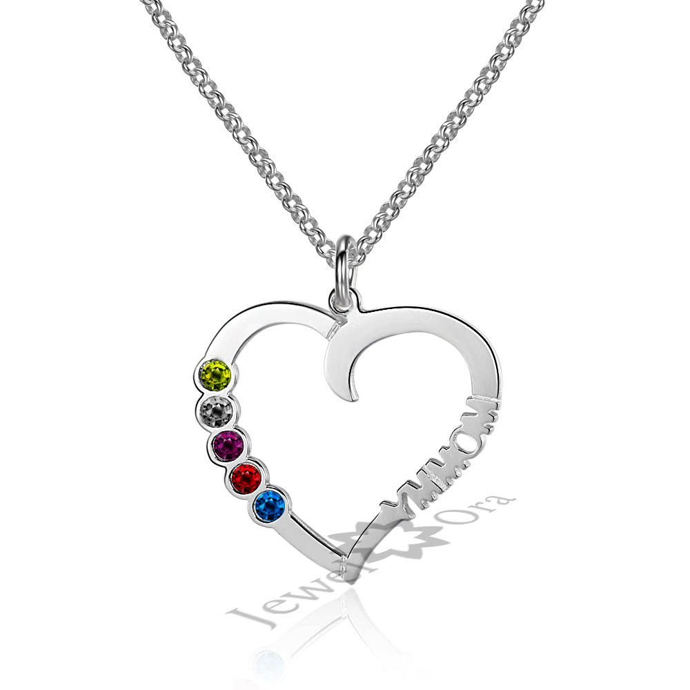 Aliexpress Buy Personalized Custom Birthstone Heart