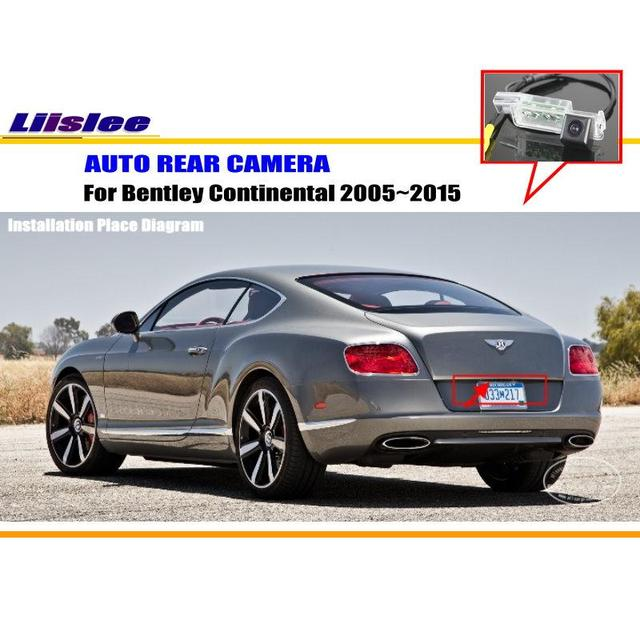 Liislee For Bentley Continental 2005 2017 Rearview Camera Backup Parking Ntst Pal License Plate Light Oem