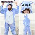 Coral fleece Halloween Christmas Party Performance Adults Kawaii Kigurus Blue And Pink Stitch Animal Pajamas Costumes For Girl