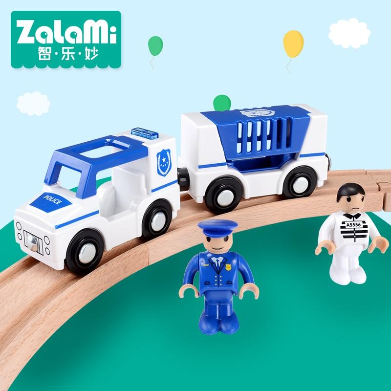 Zalami Bil Leksaker ABS Fängelse Bilfordon Leksaker Bästa Present till barn Mini Car Spela på Thomas spåret DIY