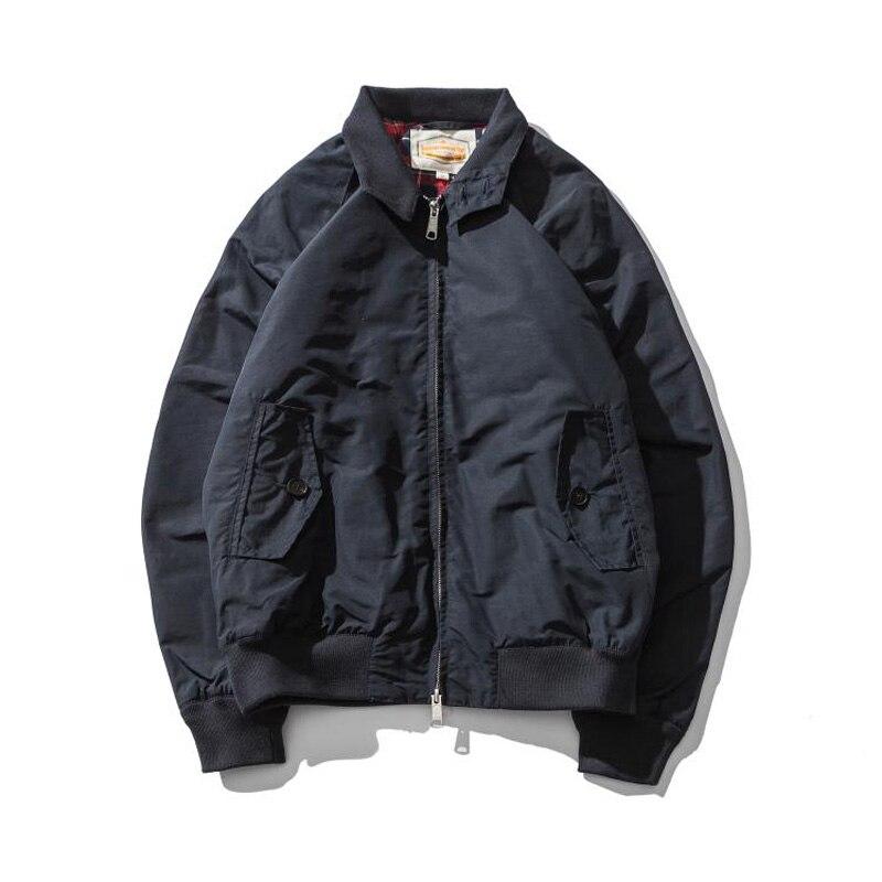 G9 Harrington Veste Réplique 80 Coton/20 Cire Imperméable Imperméable Mens Slim Fit Manteau Quatre Saison Usure