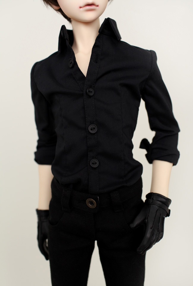 <font><b>Bjd</b></font> doll <font><b>clothes</b></font> suit suit black shirt + trousers 1/4 <font><b>1/3</b></font> can be customized size image