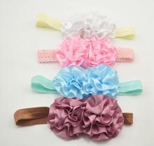 4 Colors Fashion Beautiful Children Flower Hair Band Baby Cute Hair Hoop Boutique Head Band Girls