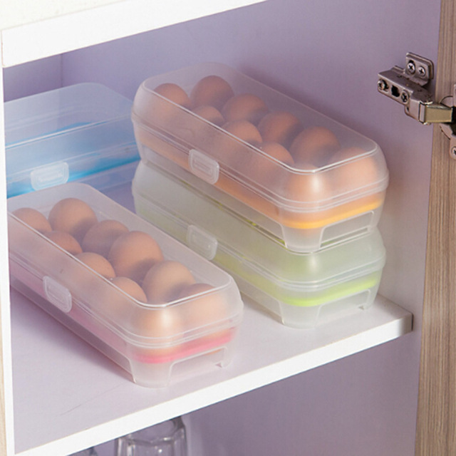 1 Pc Plastic Food Chicken Egg Holder Storage Bin Box Hamper Portable