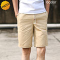 HOT 2016 Summer Loose Drawstring Solid 100%cotton short men Beach Shorts Men Casual Candy Color Boardshort Plus Size 4XL