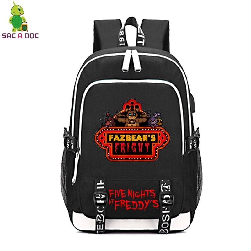 Five Nights At Freddys 1Multifunction Backpack Women Men USB Charging Laptop Backpack School Bags for Teenagers Travel RucksackFive Nights At Freddys 1Multifunction Backpack Women Men USB Charging Laptop Backpack School Bags for Teenagers Travel Rucksack