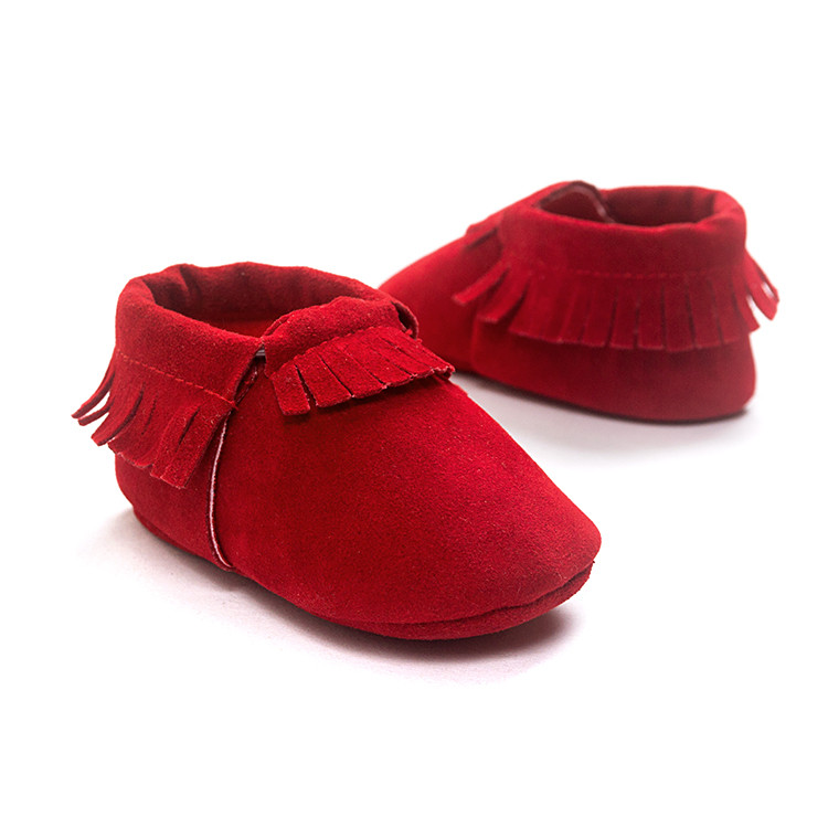 Girls Shoes Romirus Red Color Baby Moccasins Soft Bottom Tollder Baby Girls First Walkers Shoes Boys Bebe Hot Moccs.CX20C