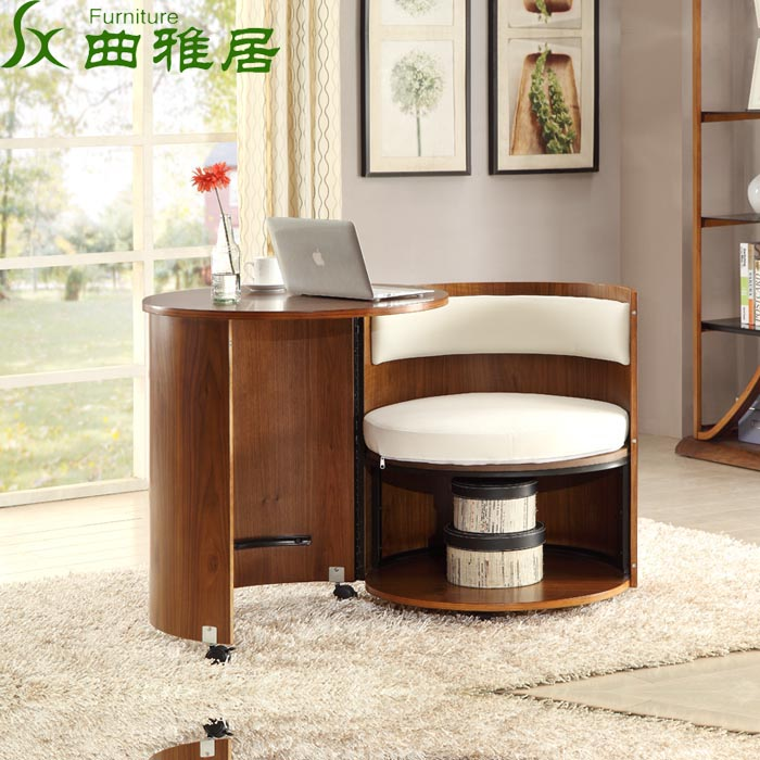 Bedroom Desk Furniture: Table Bedroom Single Drum Rotating Desk Space Saving