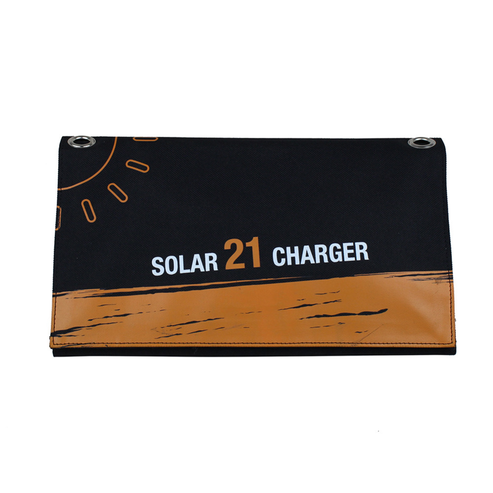 21W Outdoor Travel Folding Foldable Solar Panel Battery Charger Camera MP3 MP4 Mobile Phone Charger Solar Charge For iphone 8 7