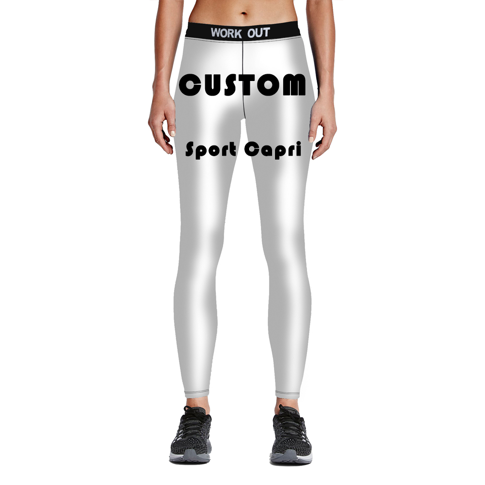 2018 Custom Hot sale Capri   Leggings   pants Fashion Women 3D print Sexy comfortable fitness silm wholesale Free shipping