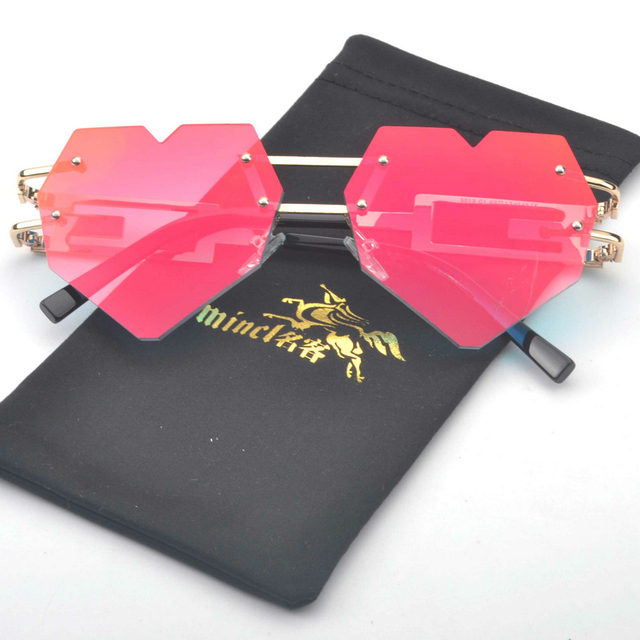 Fashion Unisex Sunglasses with Heart-Shaped Lenses