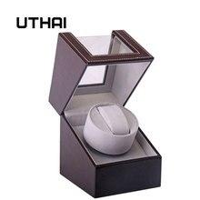 UTHAI U01 marrón reloj mecánico caja de bobinado Motor Shaker reloj bobinador soporte exhibidor organizador de almacenamiento de joyería