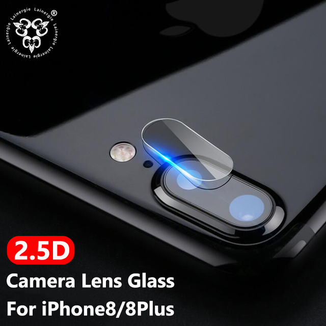 timeless design 72bd4 544f3 US $8.99 |Lainergie 10PCS Back Rear 2.5D Camera Lens Protector For iPhone 8  Plus Camera Protector Tempered Glass Protective Film-in Phone Screen ...