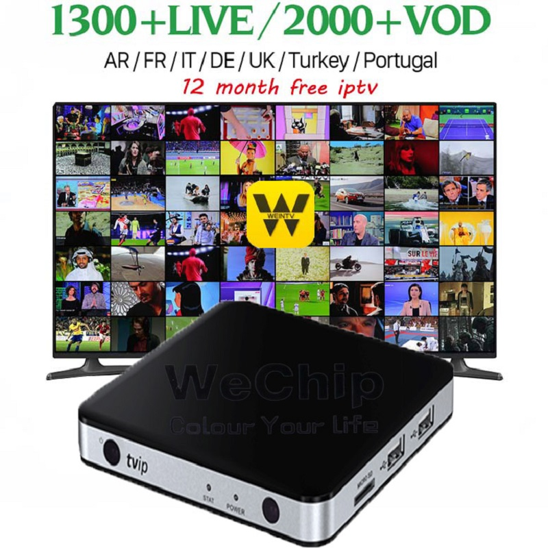Wechip mini TVIP 605 Box Amlogic Quad Core 1GB Android 6.0/Linux Dual OS Smart TV Box Support H.265 Airplay DLNA