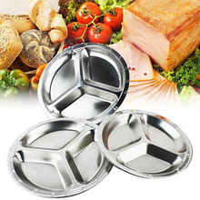 Stainless Steel Dinner Plate 3 compartment