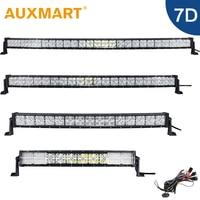 Auxmart 22 32 42 52 7D LED Light Bar Combo Beam Driving Led Work Light ATV Truck SUV 4WD 4x4 Pickup LED Bar Light