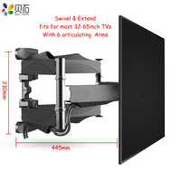 "Articulating 6 Arms TV Wall Mount Full Motion Tilt Bracket TV Rack Wall Mount  for 32""-65"" TVs up to VESA 400x400mm and 88lbs"