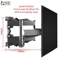 BEISHI 6 bras TV support de montage mural complet mouvement inclinaison TV support costume pour 32  65 TV écran charge jusquà 40kg VESA 400x400mm