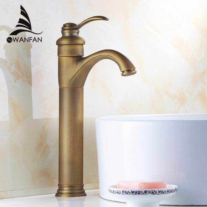 Antique laiton bassin robinets rétro or Rose salle de bain robinet plaqué or mitigeur robinet d'eau Torneira grue ZLY-6637