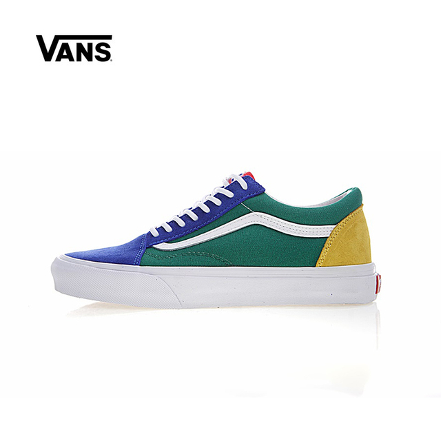 3ea2b3cf5c Original New Arrival Vans Men's & Women's Classic Old Skool Yacht Club  Low-top Skateboarding Shoes Sneakers Canvas VN0A38G1R1Q