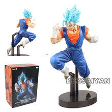 Dragon Ball Super Blue Hair Vegetto God Figure Goku Vegeta Saiyan Figurine Model Doll Toy