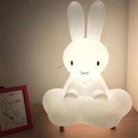 Ins Sıcak Ev LED Güzel Tavşan Bulutlar Dekoratif Avize Bebek Odası Işıkları Gece Lambası Hemşirelik Işık Ücretsiz Kargo