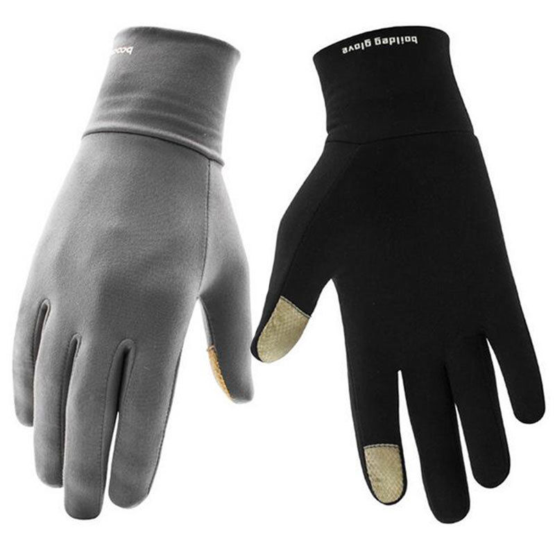 Touch Screen Winter Thermal Warm Full Finger Gloves For Outdoor Sport Driving Ski Snowboard Cycling Running Fleece Lined Mittens(China)