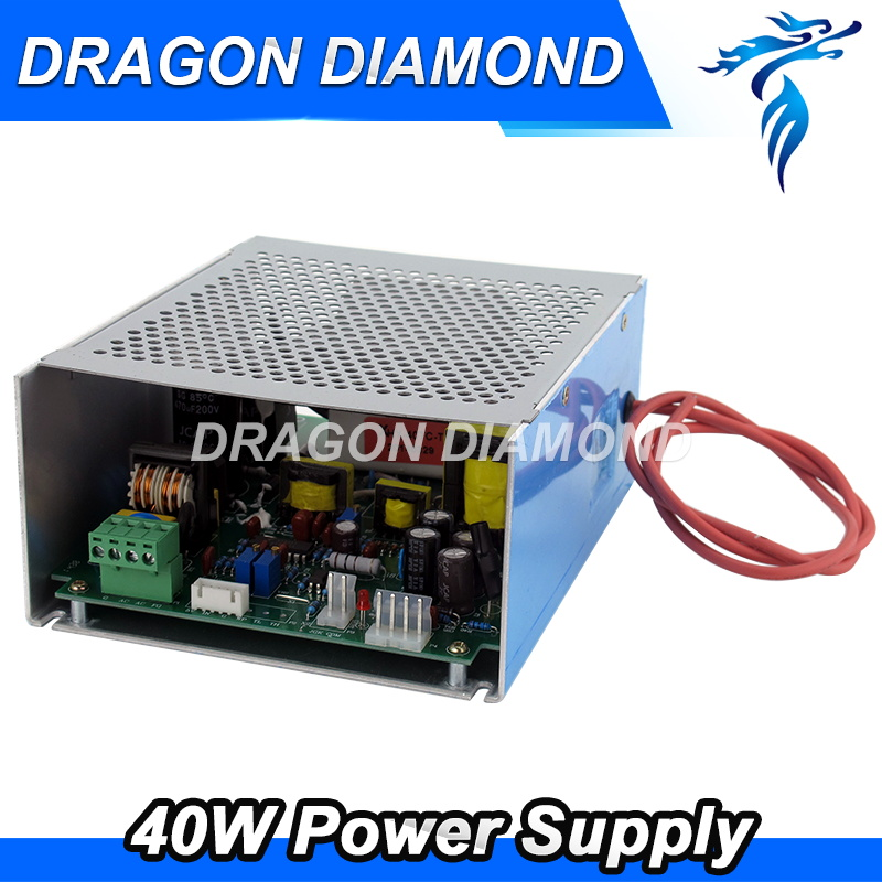 40W Co2 Laser Power Supply AC220V/110V for Co2 Laser Engraving Machine high voltage flyback transformer for co2 50w laser power supply