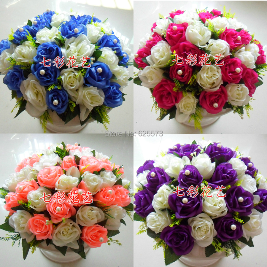 wedding flower decoration party flower buqets for road lead or - Festive and Party Supplies