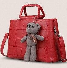 Frauen Quadratischen raster handtasche herbst und winter mode frauen große handtaschen weibliche schultertasche, mädchen messenger bags Geschenk anhänger