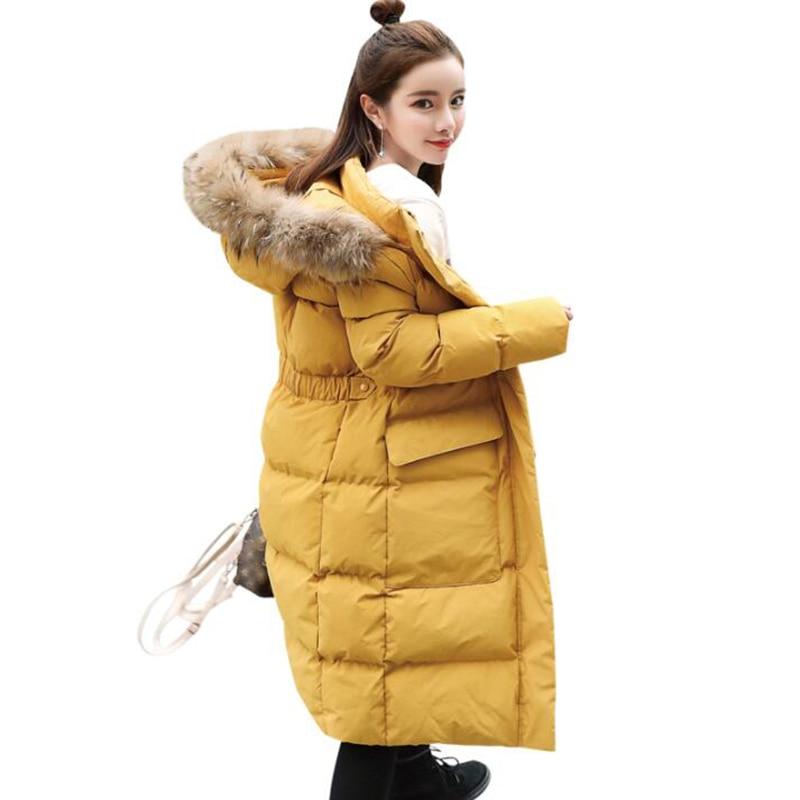Col Taille Le Red Coton La Haute rust jaune Capuche Veste Beige Épais 2018 Femmes Parka Fourrure vert Manteau Manteaux Nouvelle Qualité Grand D'hiver Vers À noir De Mode Plus Long Bas YgqRAwO