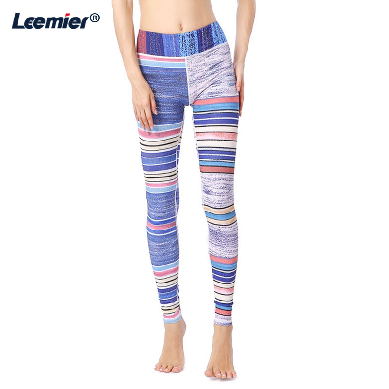 Print Yoga Pants Women Gym Sports Leggings High Waist Chinlon And Spandex Sports Tights Woman Fitness Bodybuilding Clothes in Yoga Pants from Sports Entertainment