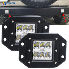 12V 24V 6LED White 18W Car 4X4 4WD Off-Road Working Lights Spot/Flood Light for Jeep Truck SUV ATV LED Work light