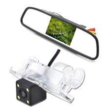 4.3  car mirror monitor set including night vision car rear vision camera with led light free shipping axiom car vision 1100