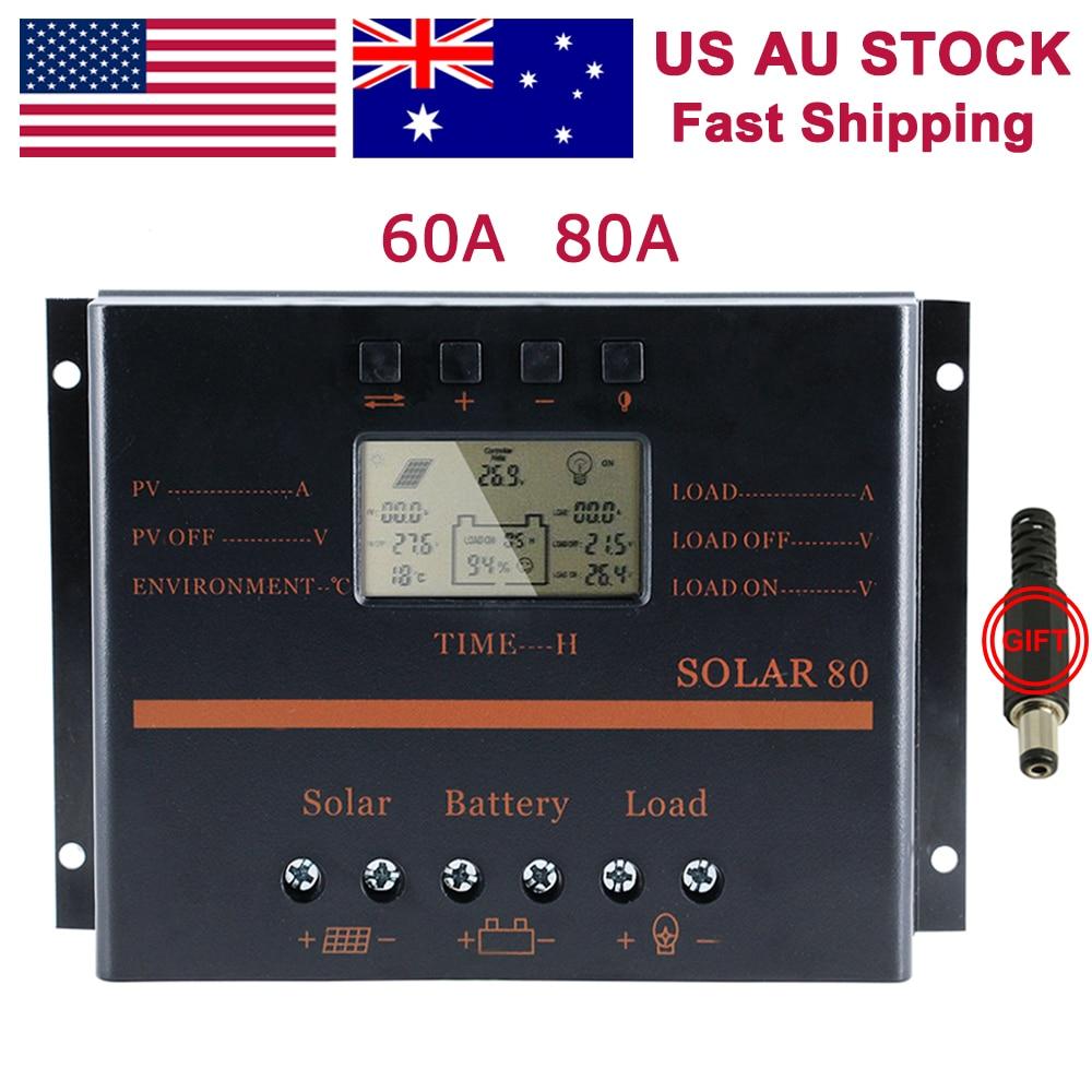 60A USB ソーラーコントローラ Carregador ソーラーインテリジェント PWM 充電モードライトタイマー制御 60A led ライトソーラーコントローラ  グループ上の 家のリフォーム からの ソーラー コントローラ の中 1