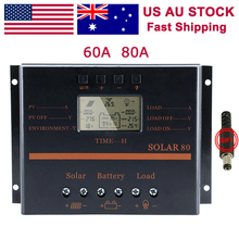 60A USB solar controller carregador Intelligent PWM Charging Mode light timer control for led Solar