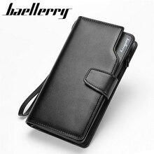 2017 New men wallets Casual wallet men purse Clutch bag Brand leather wallet long design men