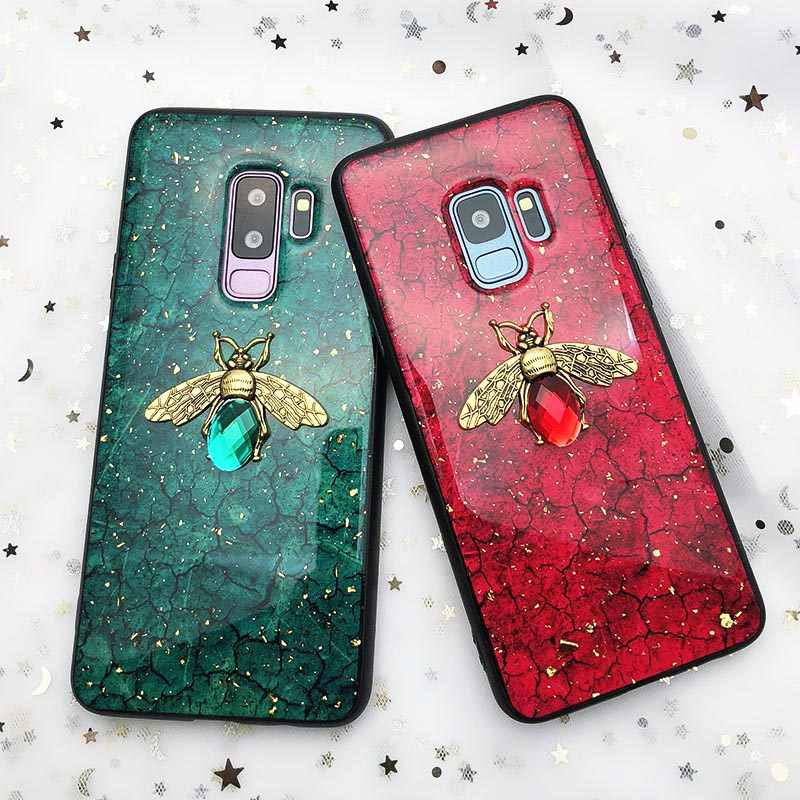 Goudfolie Bling Bee Case Voor Samsung Galaxy A10 A20 A30 A40 A50 A60 A70 M10 M20 M30 J4 J6 a6 2018 Note8 9 S8 S9 S10 Lite Plus