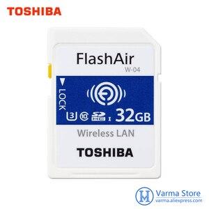Image 1 - Toshiba wifi sd cartão de memória de alta velocidade slr câmera suporta 4 k sem fio wi fi cartão 32 gb